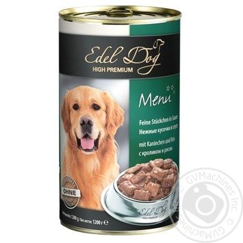 Консерва д\собак EDEL DOG кролик-рис 1,2кг