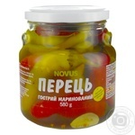 Vegetables pepper Novus pickled 580g glass jar