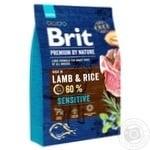 Корм сухой Brit Premium ягненок для собак с чувствительным пищеварением 3кг
