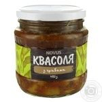 Vegetables kidney bean Novus canned 460g glass jar