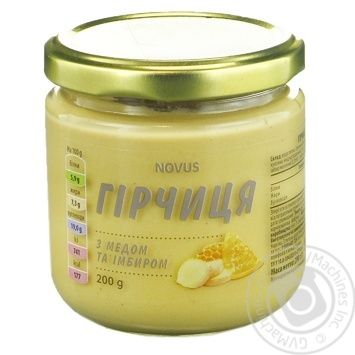 Гірчиця з медом та імбиром Novus 200г