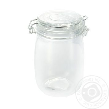 Стеклянная банка с крышкой 1л - купить, цены на Метро - фото 1