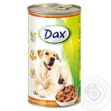 Food Dax poultry canned for pets 1240g can