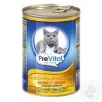 Консерва д/котів PreVital кролик-птиця-морква в желе 415г