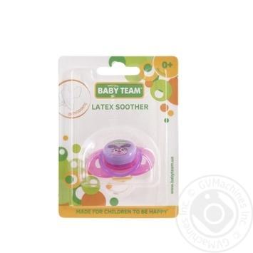 Пустушка латексна ортодонтична Baby Team арт.3200 - купить, цены на Novus - фото 1