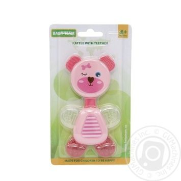 Іграшка-брязкальце Baby Team з прорізувачем - купити, ціни на Novus - фото 1