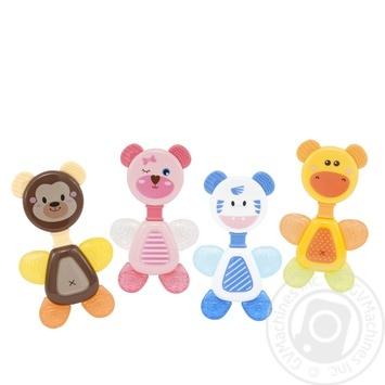 Игрушка-погремушка Baby Team с прорезывателем Кольцо - купить, цены на Novus - фото 3