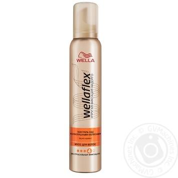 Мусс для волос WELLAFLEX Контроль над непослушными волосами экстрасильной фиксации 200мл - купить, цены на МегаМаркет - фото 1