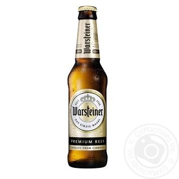 Пиво Warsteiner Premium Verum светлое 4,8% 0,33л - купить, цены на Novus - фото 1