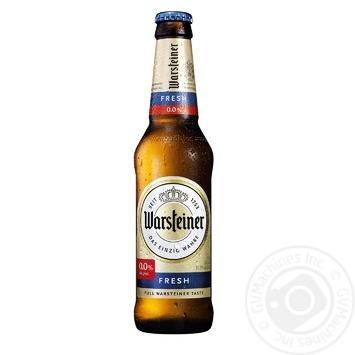 Пиво Warsteiner Fresh светлое безалкогольное 0% 0,33л - купить, цены на Varus - фото 1