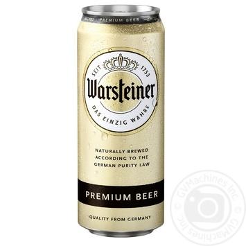 Пиво Warshteiner Premium светлое ж/б 4.8% 0,5л - купить, цены на Novus - фото 2