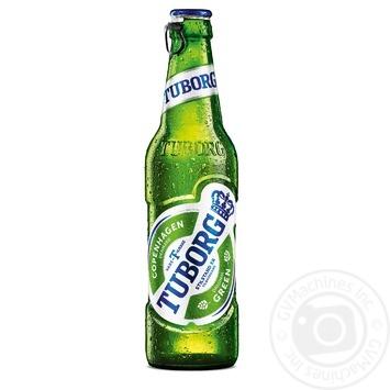 Пиво Tuborg Green светлое 4,6% 0,33л - купить, цены на МегаМаркет - фото 1