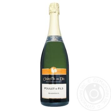 Вино игристое Poulet&Fils Clairette De Die Tradition белое сухое 8% 0,75л