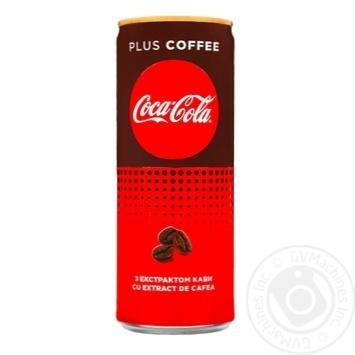 Напій сильногазований CocaCola Plus Cooffe 0,25л з/б