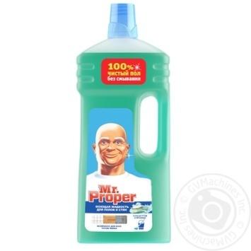 Засіб миючий Mr. Proper Гірське джерело і прохолода 1,5л - купити, ціни на Метро - фото 1