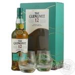 Віскі The Glenlivet Founder's Reserve 12 років 40% 0,7л + 2 склянки в подарунковій упаковці