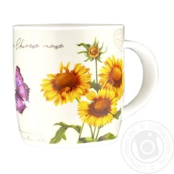 Чашка із порцеляни Соняшник S&T 6124 350мл