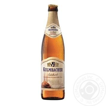 Kulmbacher Edelherb Pils light filtered beer 4,9% 500ml - buy, prices for CityMarket - photo 1
