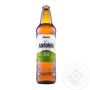 Пиво Primator Antonin светлое фильтрованное 4% 0,5л - купить, цены на МегаМаркет - фото 1
