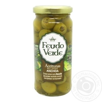 olive Feudo verde with anchovy green stuffed 240g
