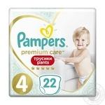 Подгузники-трусики Pampers Premium Сare Pants 4 Maxi 9-15кг 22шт