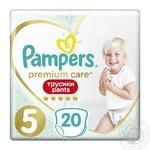 Подгузники-трусики Pampers Premium Care Pants 5 Junior 12-17 кг 20шт