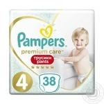 Подгузники-трусики Pampers Premium Care Pants 4 Maxi 9-15кг 38шт