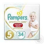 Подгузники-трусики Pampers Premium Care Pants 5 Junior 12-17кг 34шт