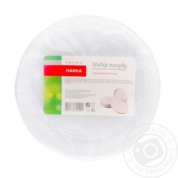 Набор тарелок Marka Promo 210мм 10шт