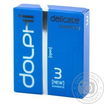 Dolphi LUX Delicate Condoms 3pcs - buy, prices for Tavria V - image 1