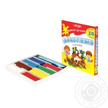 Bin Bin Plasticine 10 colors 200g - buy, prices for Furshet - image 1