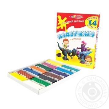Пластилін Гама Н Захоплення 14 кольорів 280г - купити, ціни на Фуршет - фото 1