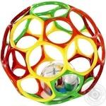 Мяч OBall с погремушкой внутри 2 цвета