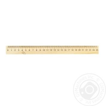 Лінійка дерев'яна Мицар 250мм 126239 - купити, ціни на Фуршет - фото 1