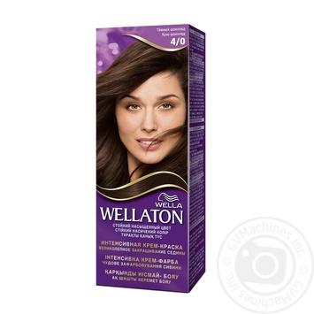 Краска для волос Wellaton №4/0 темный шоколад 1шт
