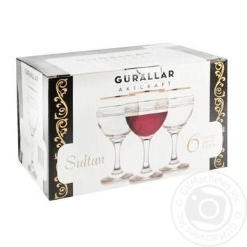 Набор бокалов Gurallar Artcraft Sultan для красного вина 260мл 6шт - купить, цены на МегаМаркет - фото 1