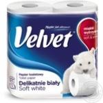 Папір туалетний Velvet 3шари 4шт