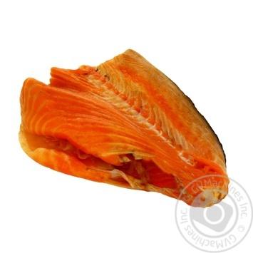 Fish salmon cold-smoked