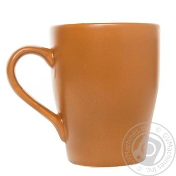 Чашка керамическая Keramia Терракота 300мл - купить, цены на УльтраМаркет - фото 1