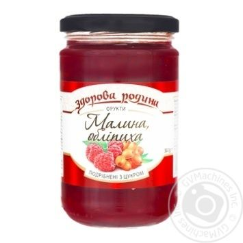 Zdorova Rodyna Grated Raspberries and Sea Buckthorn with Sugar 350g - buy, prices for Tavria V - image 1