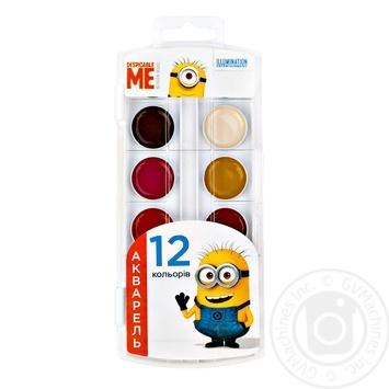 Краска MIZAR акварельная 12 цветов 262741 - купить, цены на Фуршет - фото 1