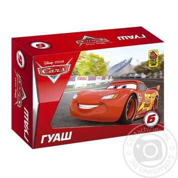 Гуашь Серия Cars Мицар 252097 6 цветов 20 мл - купить, цены на Фуршет - фото 1