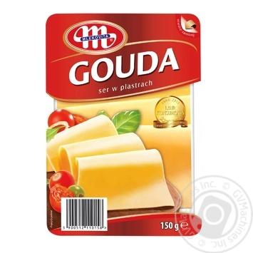 Сыр Гоуда 45% нарезной Mlekovita 150г - купить, цены на Фуршет - фото 1