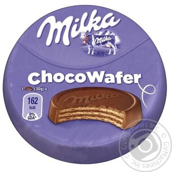 Вафли Milka покрытые молочным шоколадом 30г - купить, цены на Varus - фото 1