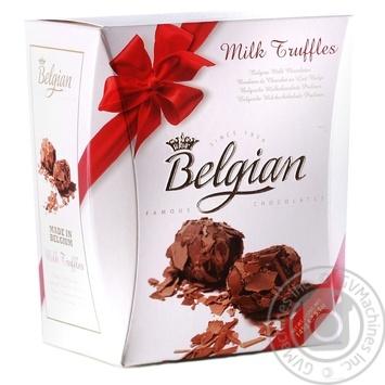 Трюфельные конфеты из молочного шоколада Belgian 145г