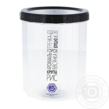 Емкость ТД Меломан для сыпучих продуктов 1л - купить, цены на Фуршет - фото 1