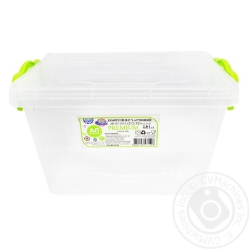 Premium №3 Food container high with lid 141X212X146mm 2l - buy, prices for Auchan - photo 1