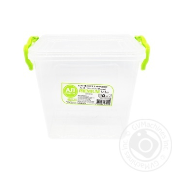 Premium №2 Food container high with lid 161X112X145mm 1,4l - buy, prices for Auchan - photo 1