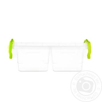 Контейнер пищевой Twin двойной с крышкой 162X112X64мм 0,5л - купить, цены на Таврия В - фото 1