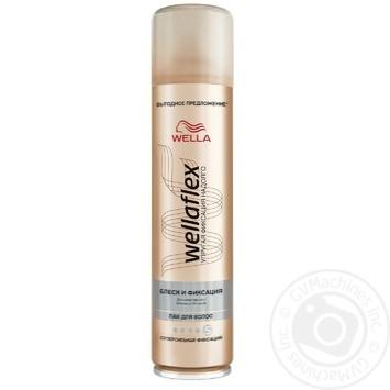 Лак Wellaflex Блеск и фиксация для волос 400мл